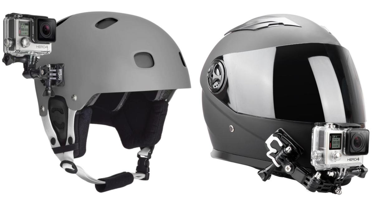 фото настраиваемого адаптера для крепления на шлем для экшн-камеры