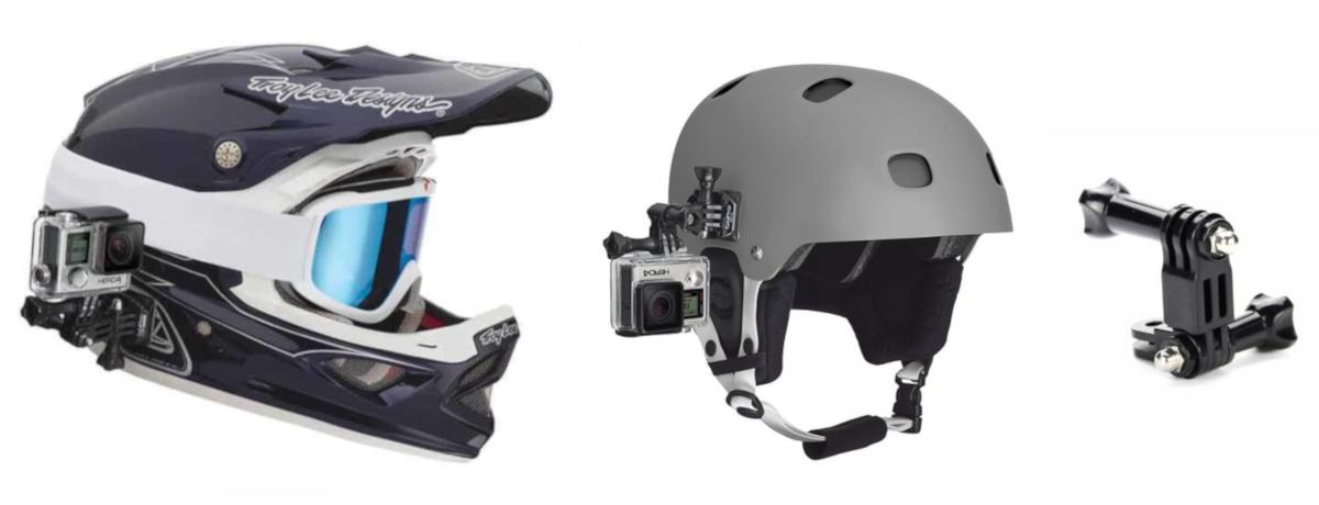 фото боковое крепление на шлем для экшн-камеры
