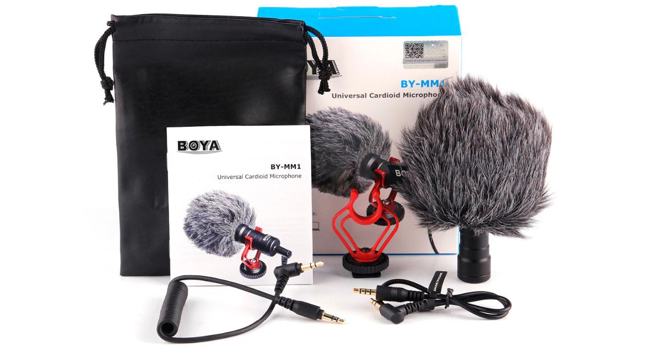 изображение микрофона Boya BY-MM1 из набора блогера для GoPro 8