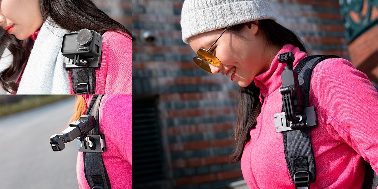 фото зажима на лямку рюкзака для экшн-камер PGYTECH Strap Holder