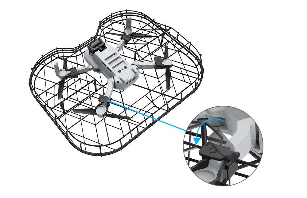 фото быстросъемных защелок защиты пропеллеров DJI Mavic Mini