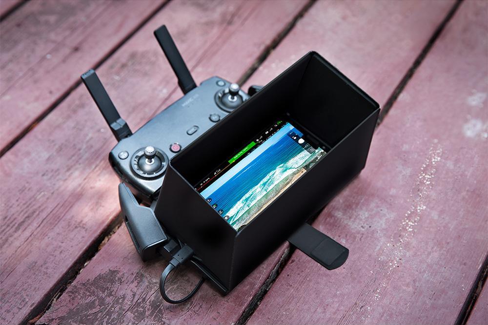 изображение бленды на телефон для пульта квадрокоптера DJI