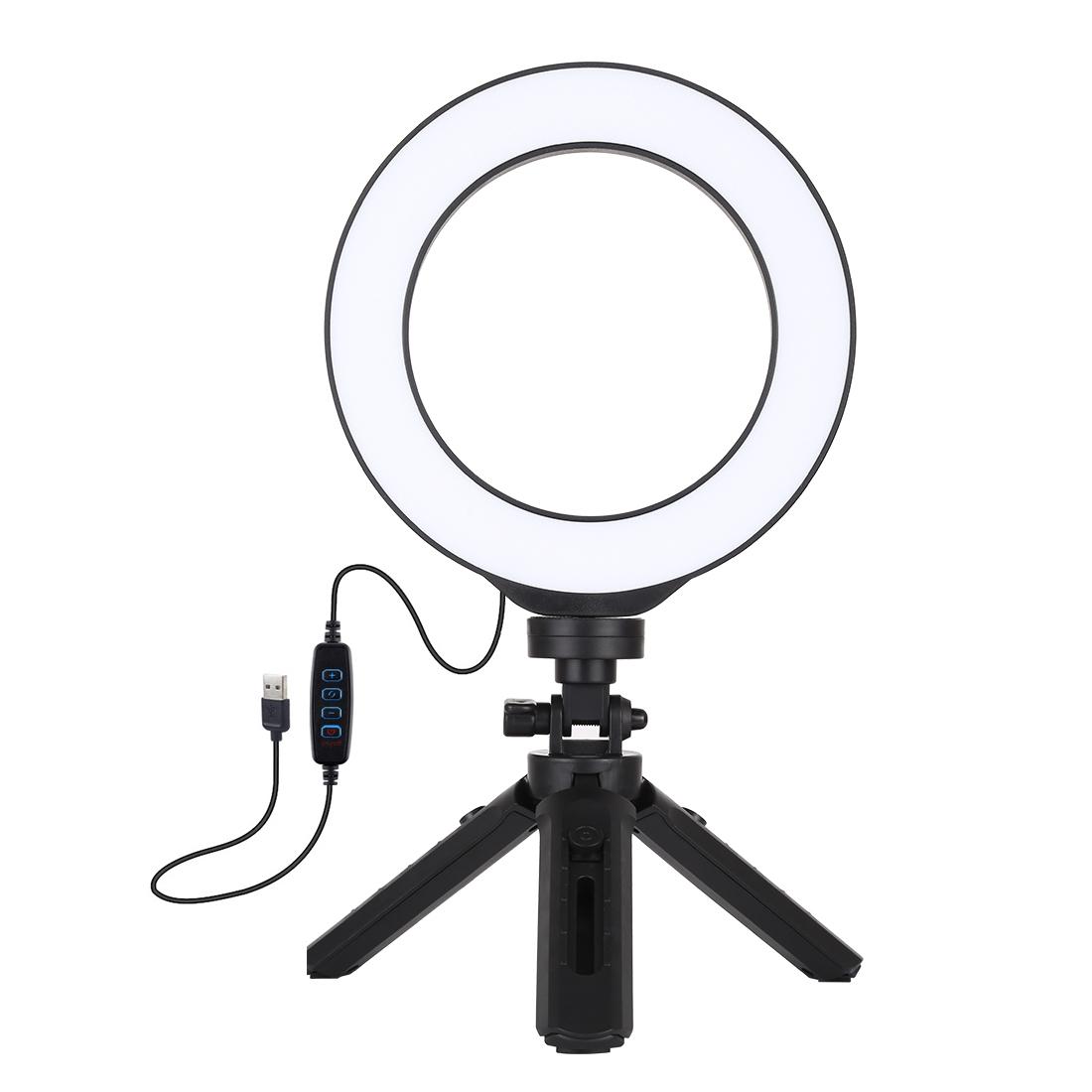 фото светодиодной настольная кольцевая лампа