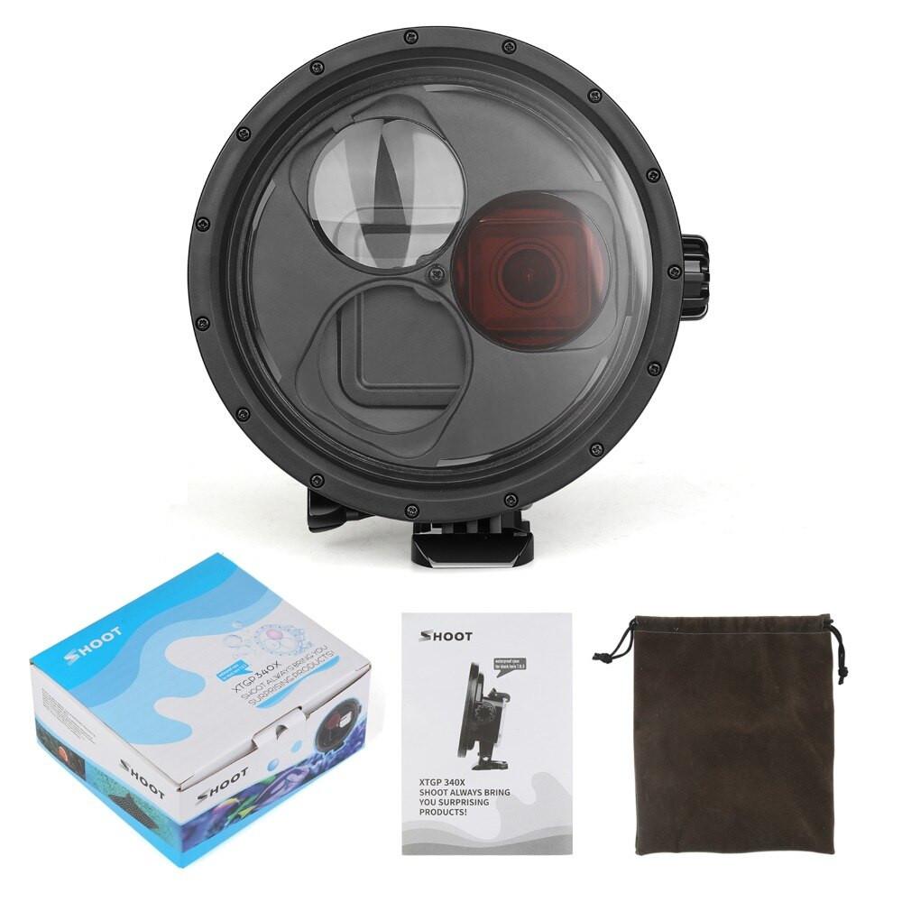 изображение комплектации аквабокса GoPro 7 с фильтром и макролинзой