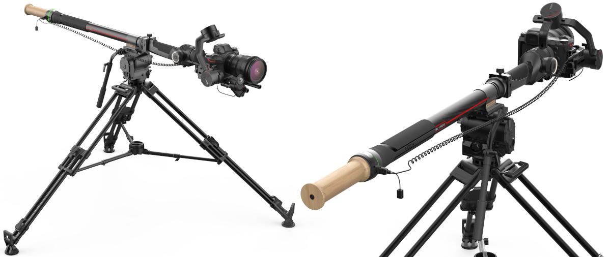 фото встановленого стедікама на слайдер для камери MOZA Slypod