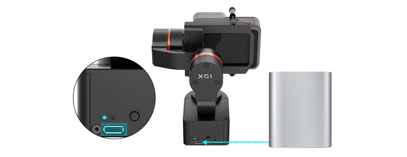 фото зарядки камеры от стабилизатора Hohem XG1 Classic