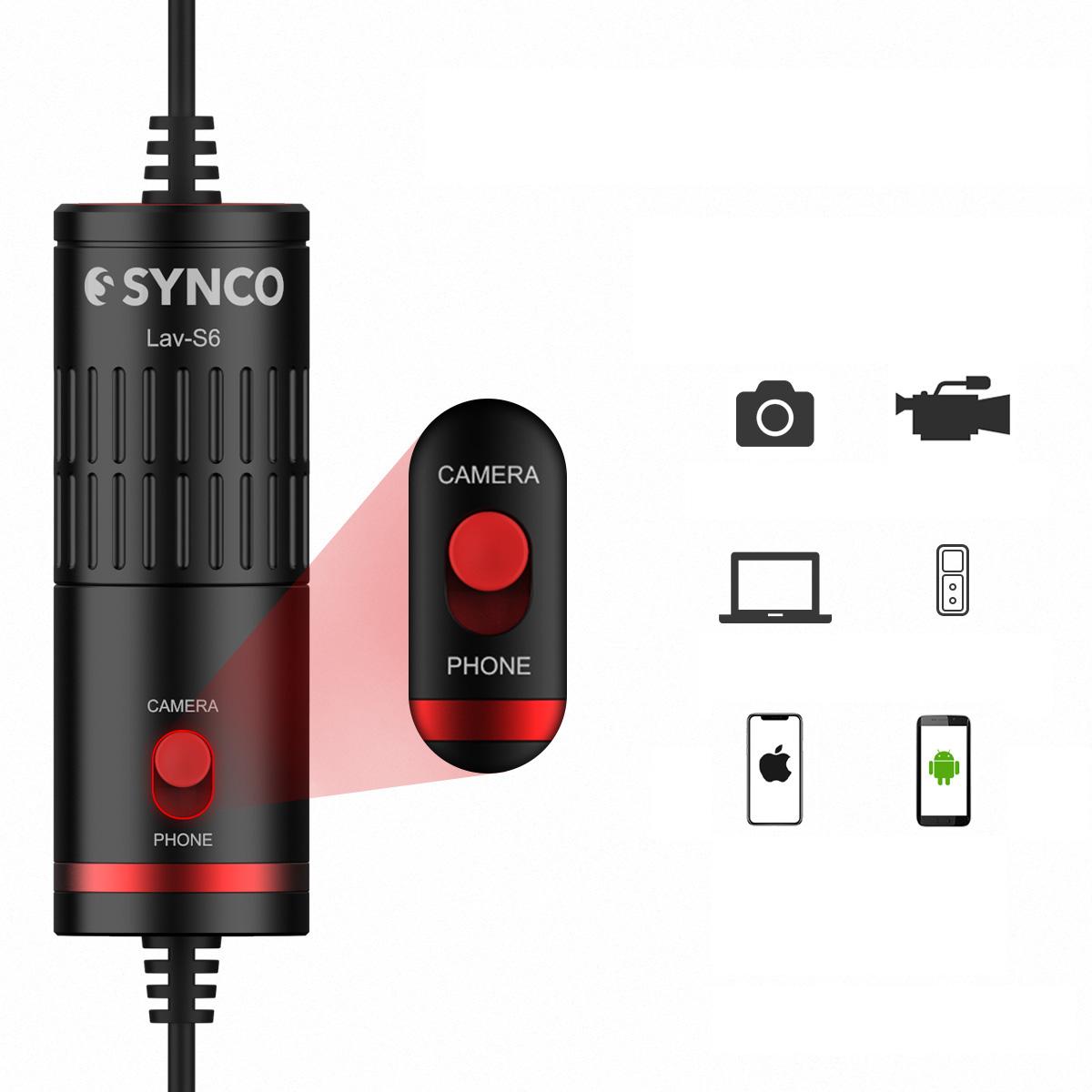 изображение Synco Lav-S6 широкая совместимость с устройствами