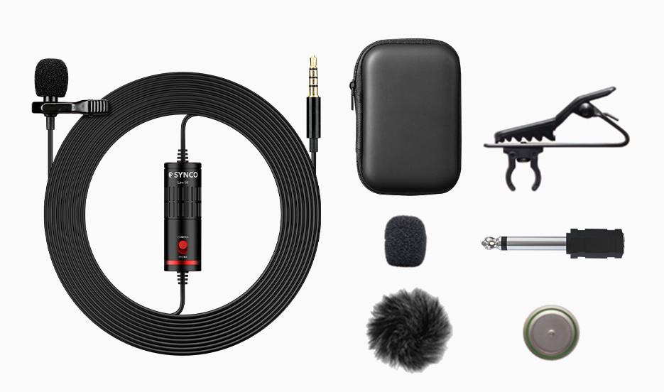 фото комплектации микрофона Synco Lav-S6