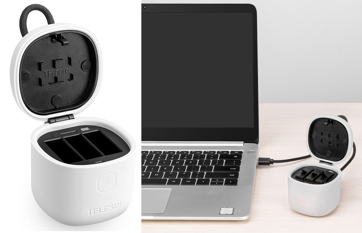 фото зарядки для GoPro с картридером