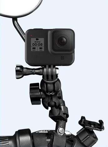 фото крепления на зеркало мотоцикла для экшн-камеры