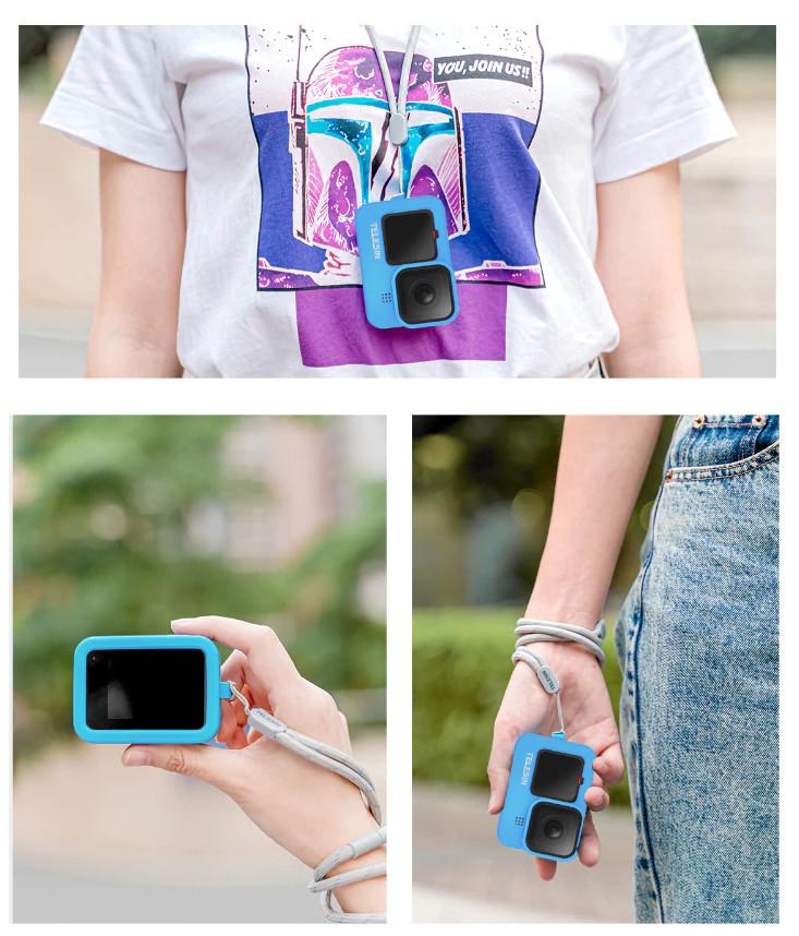 изображение силиконового чехла голубого цвета для GoPro Hero9 Black