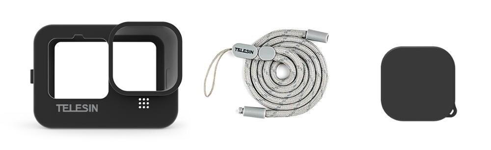 фото комплектации черного силиконового чехла GoPro 9 Telesin GP-HER-043
