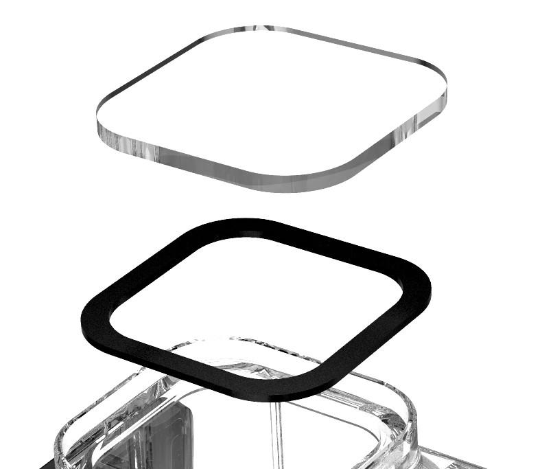 изображение линзы из закаленного стекла на аквабоксе GoPro 9 Telesin GP-WTP-901
